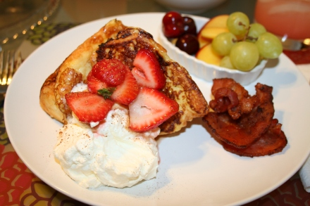 Angel foodcake french toast